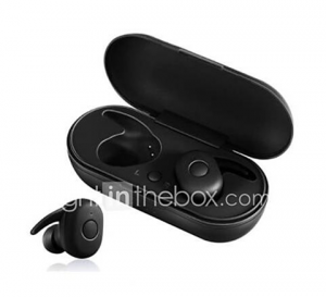 DT-1 True Wireless Earbuds Stereo Waterproof Sport Earphone with Microphone Charging Box