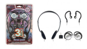 Sentry HO784 EARBUDS THREE PACK WITH Y-SPLITTER PLUG