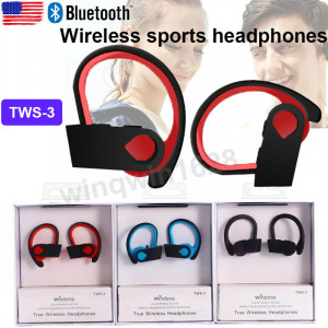 TWS-3 Bluetooth Wireless Sports Headphones Noise Reduction Earbuds Music Headsets with Super Bass